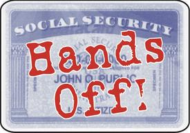 Social Security card - hands off